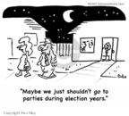 Cartoonist Rex May  Rex May Gag Cartoons 2008-02-22 election