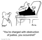 Cartoonist Rex May  Rex May Gag Cartoons 2007-04-27 obstruction of justice