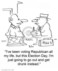 Cartoonist Rex May  Rex May Gag Cartoons 2007-12-18 voter