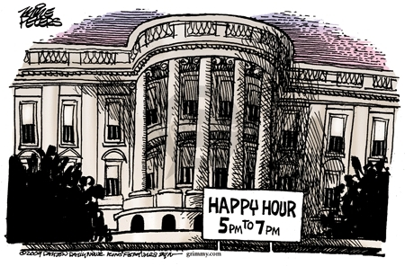 Happy hour 5pm to 7pm.