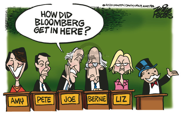 How did Bloomberg get in here? Amy Pete Joe Bernie Liz