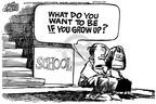 Cartoonist Mike Peters  Mike Peters' Editorial Cartoons 2001-03-08 student
