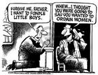 Cartoonist Mike Peters  Mike Peters' Editorial Cartoons 2002-02-10 religion