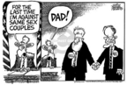 Cartoonist Mike Peters  Mike Peters' Editorial Cartoons 2005-02-24 same-sex marriage