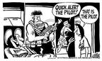 Cartoonist Mike Peters  Mike Peters' Editorial Cartoons 2003-02-28 stewardess