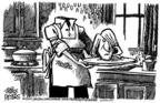 Cartoonist Mike Peters  Mike Peters' Editorial Cartoons 2004-03-11 serve