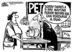 Cartoonist Mike Peters  Mike Peters' Editorial Cartoons 2002-03-25 death