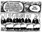 Cartoonist Mike Peters  Mike Peters' Editorial Cartoons 2005-04-07 pro-life