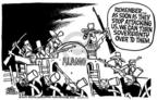 Cartoonist Mike Peters  Mike Peters' Editorial Cartoons 2004-04-09 turn