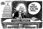 Cartoonist Mike Peters  Mike Peters' Editorial Cartoons 2003-06-08 tax refund