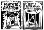 Cartoonist Mike Peters  Mike Peters' Editorial Cartoons 2002-06-15 death
