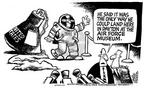 Cartoonist Mike Peters  Mike Peters' Editorial Cartoons 2003-07-04 politics