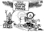 Cartoonist Mike Peters  Mike Peters' Editorial Cartoons 2005-07-08 Tour de France