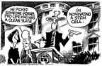 Cartoonist Mike Peters  Mike Peters' Editorial Cartoons 2005-07-22 pro-life