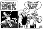 Cartoonist Mike Peters  Mike Peters' Editorial Cartoons 2005-08-06 muscle