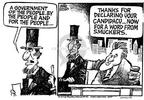 Cartoonist Mike Peters  Mike Peters' Editorial Cartoons 2003-08-09 politics