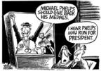 Cartoonist Mike Peters  Mike Peters' Editorial Cartoons 2004-08-20 courage