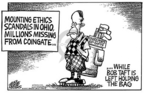 Cartoonist Mike Peters  Mike Peters' Editorial Cartoons 2005-08-22 politics