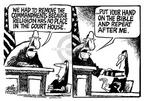 Cartoonist Mike Peters  Mike Peters' Editorial Cartoons 2003-08-30 court