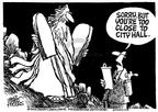 Cartoonist Mike Peters  Mike Peters' Editorial Cartoons 2003-09-04 court