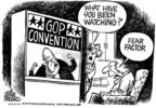 Cartoonist Mike Peters  Mike Peters' Editorial Cartoons 2004-09-06 republican convention