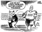 Cartoonist Mike Peters  Mike Peters' Editorial Cartoons 2003-09-13 college sports