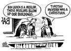 Cartoonist Mike Peters  Mike Peters' Editorial Cartoons 2001-09-20 religious discrimination
