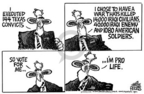 Cartoonist Mike Peters  Mike Peters' Editorial Cartoons 2004-10-15 convict