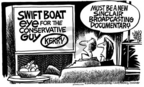 Cartoonist Mike Peters  Mike Peters' Editorial Cartoons 2004-10-21 Sinclair broadcasting