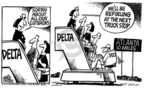 Cartoonist Mike Peters  Mike Peters' Editorial Cartoons 2005-09-22 stewardess