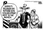 Cartoonist Mike Peters  Mike Peters' Editorial Cartoons 2005-10-15 presidential appointment