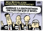 Cartoonist Mike Peters  Mike Peters' Editorial Cartoons 2006-05-26 same-sex marriage