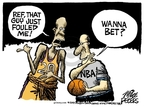 Cartoonist Mike Peters  Mike Peters' Editorial Cartoons 2007-07-24 basketball foul