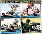 Cartoonist Mike Peters  Mike Peters' Editorial Cartoons 2007-07-31 summer vacation