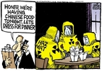 Cartoonist Mike Peters  Mike Peters' Editorial Cartoons 2007-08-09 food