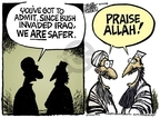 Cartoonist Mike Peters  Mike Peters' Editorial Cartoons 2008-04-08 Afghanistan