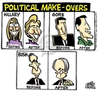 Cartoonist Mike Peters  Mike Peters' Editorial Cartoons 2008-04-23 republican politician