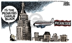 Cartoonist Mike Peters  Mike Peters' Editorial Cartoons 2008-06-25 presidential