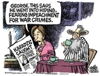 Cartoonist Mike Peters  Mike Peters' Editorial Cartoons 2008-07-25 impeachment