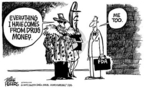 Cartoonist Mike Peters  Mike Peters' Editorial Cartoons 2004-11-22 food