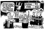 Cartoonist Mike Peters  Mike Peters' Editorial Cartoons 2004-11-25 basketball