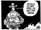 Cartoonist Mike Peters  Mike Peters' Editorial Cartoons 2003-12-07 serve