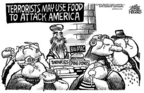 Cartoonist Mike Peters  Mike Peters' Editorial Cartoons 2004-12-09 food