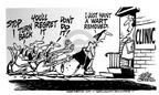 Cartoonist Mike Peters  Mike Peters' Editorial Cartoons 1991-09-01 turn