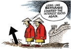 Cartoonist Mike Peters  Mike Peters' Editorial Cartoons 2008-12-24 chinese