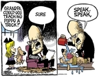 Cartoonist Mike Peters  Mike Peters' Editorial Cartoons 2009-04-21 dog training