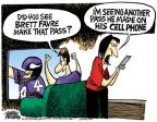 Cartoonist Mike Peters  Mike Peters' Editorial Cartoons 2010-10-12 football pass