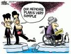 Cartoonist Mike Peters  Mike Peters' Editorial Cartoons 2012-08-16 Ryan Medicare plan