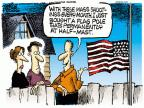 Cartoonist Mike Peters  Mike Peters' Editorial Cartoons 2013-09-17 half mast flag