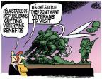 Cartoonist Mike Peters  Mike Peters' Editorial Cartoons 2013-10-03 World War II Memorial